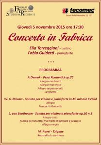 Tecomec - Concerto in Fabrica del 5 novembre 2015