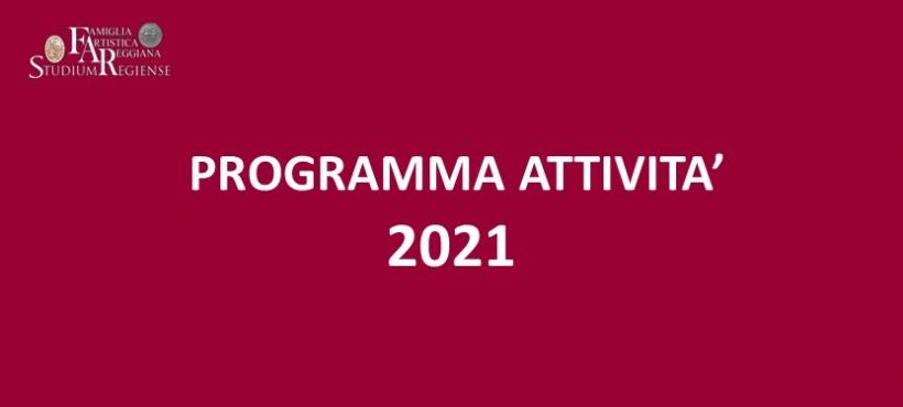PROGRAMMA ATTIVITA' 2021